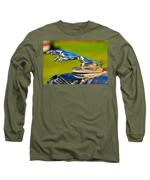 Simply Jaguar-front Emblem Long Sleeve T-Shirt