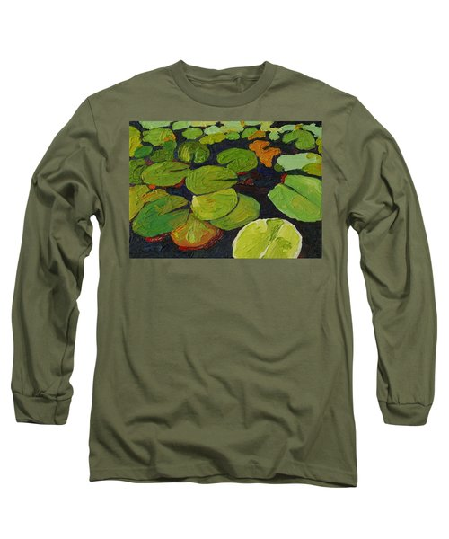 Singleton Lily Pads Long Sleeve T-Shirt by Phil Chadwick