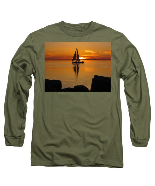 Sister Bay Sunset Sail 2 Long Sleeve T-Shirt