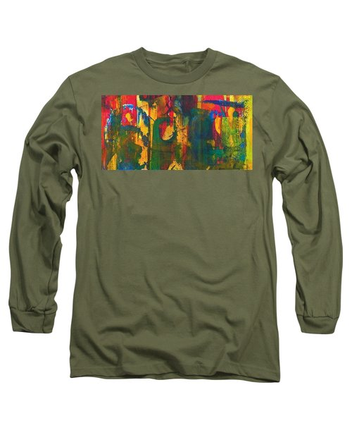 Long Sleeve T-Shirt featuring the painting Sisters by Anna Ruzsan