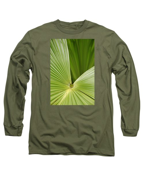 Long Sleeve T-Shirt featuring the photograph Skc 0691 The Paths Of Palm Meeting At A Point by Sunil Kapadia