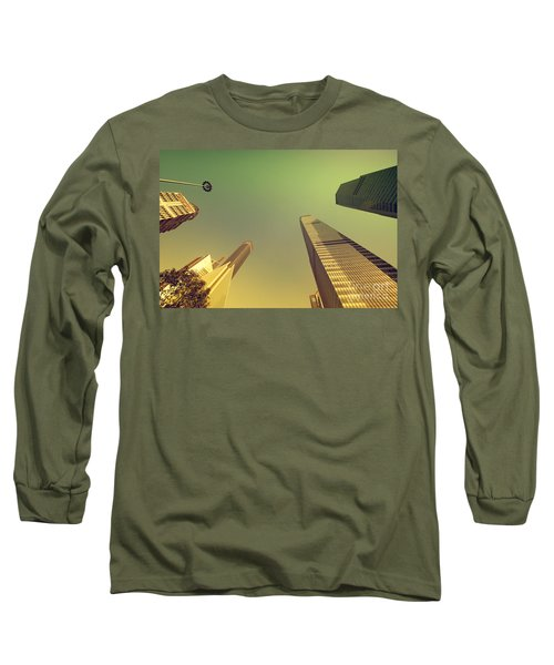 Long Sleeve T-Shirt featuring the photograph Skyscraper by Yew Kwang