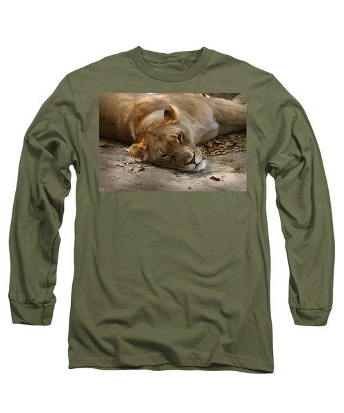Sleepy Lioness Long Sleeve T-Shirt
