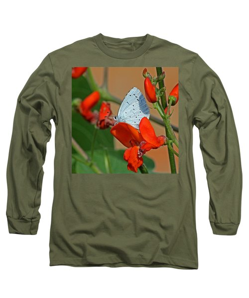 Small Blue Butterfly Long Sleeve T-Shirt