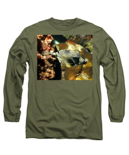 Smooth Trunkfish Long Sleeve T-Shirt by Amy McDaniel