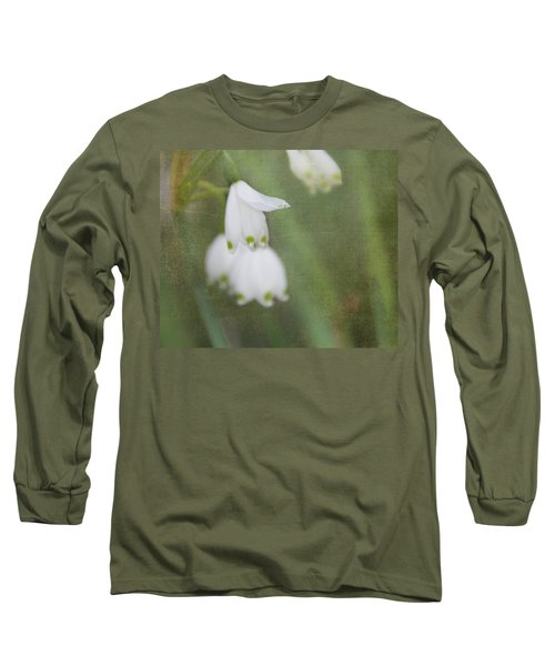 Long Sleeve T-Shirt featuring the photograph Snowdrops by Katie Wing Vigil