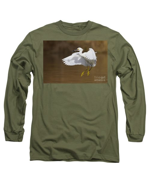 Snowy With A Fish Long Sleeve T-Shirt by Bryan Keil