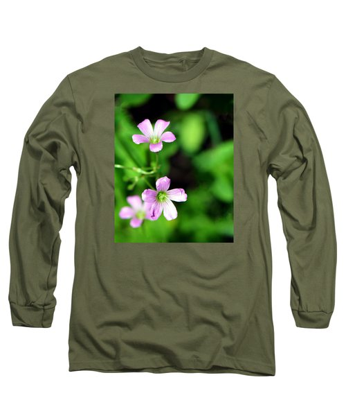 So Delicate In Purple. Texas Spring Perennial Long Sleeve T-Shirt by Connie Fox