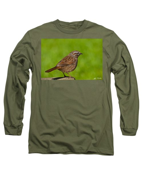 Song Sparrow On A Log Long Sleeve T-Shirt