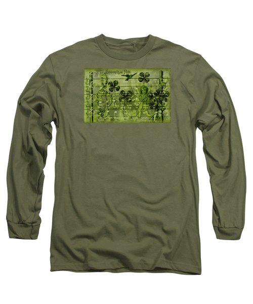Long Sleeve T-Shirt featuring the digital art Souhaits De Fete by Sandra Foster