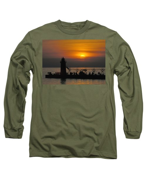 South Haven Lighthouse Long Sleeve T-Shirt