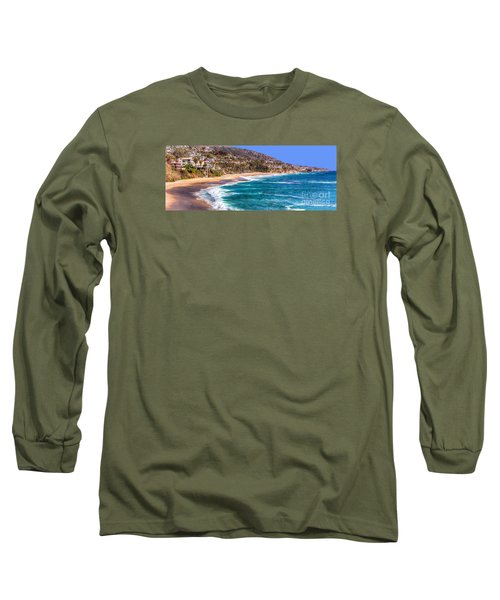 Long Sleeve T-Shirt featuring the photograph South Laguna Beach Coast by Jim Carrell