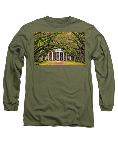 Southern Class Oil Long Sleeve T-Shirt by Steve Harrington