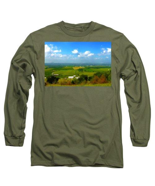Southern Illinois River Basin Farmland Long Sleeve T-Shirt