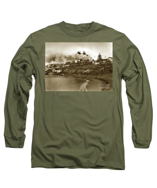 Southern Pacific Del Monte Passenger Train Pacific Grove Circa 1954 Long Sleeve T-Shirt