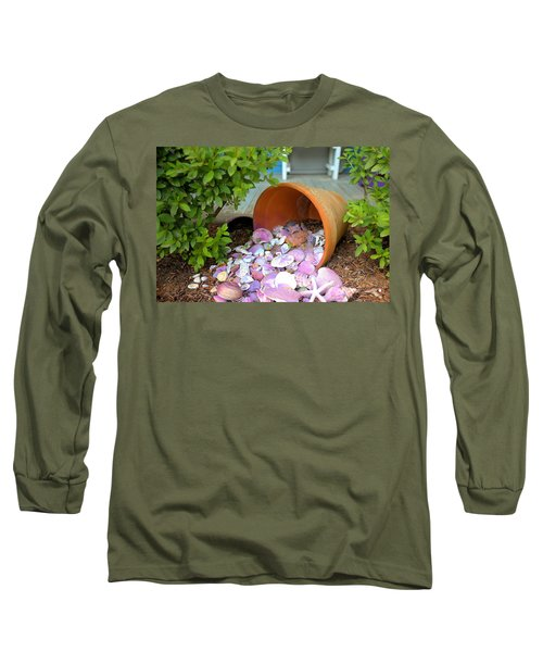 Long Sleeve T-Shirt featuring the photograph Spilled Shels by Gordon Elwell