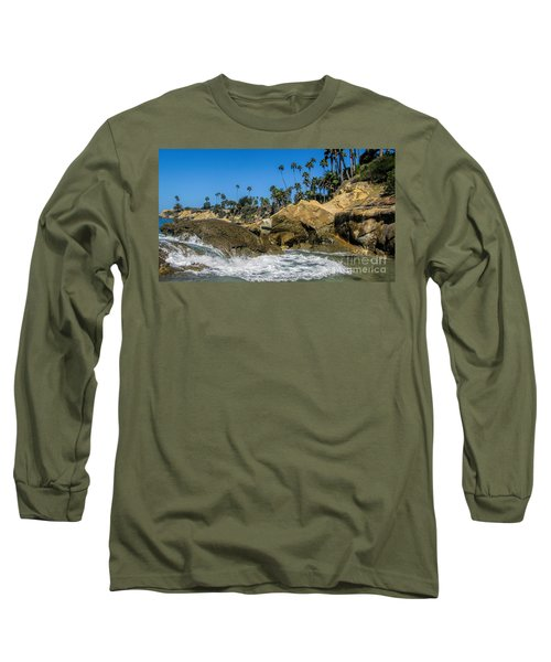 Long Sleeve T-Shirt featuring the photograph Splash by Tammy Espino