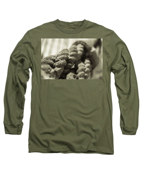 Spliced And Bound Black And White Sepia Long Sleeve T-Shirt