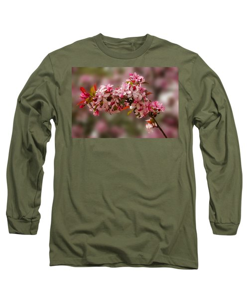 Cheery Cherry Blossoms Long Sleeve T-Shirt