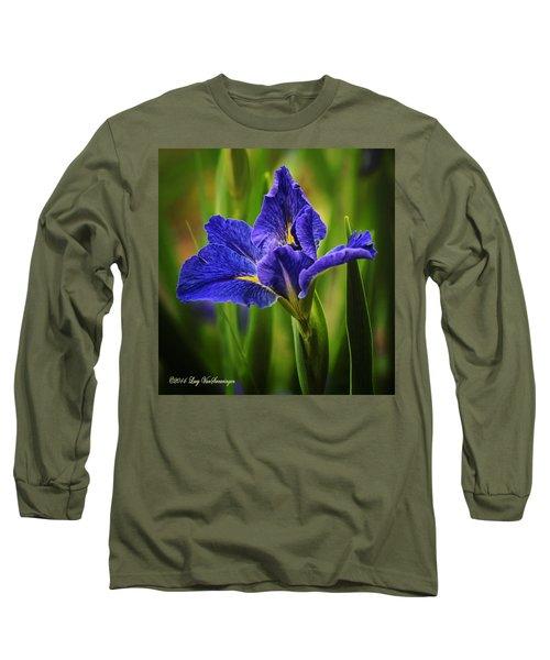 Spring Blue Iris Long Sleeve T-Shirt