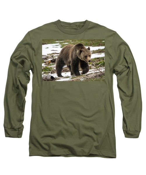 Long Sleeve T-Shirt featuring the photograph Spring Grizzly Bear by Jack Bell