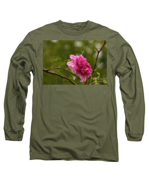 Spring Showers Long Sleeve T-Shirt by Peggy Hughes