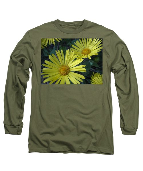 Spring Yellow  Long Sleeve T-Shirt by Cheryl Hoyle