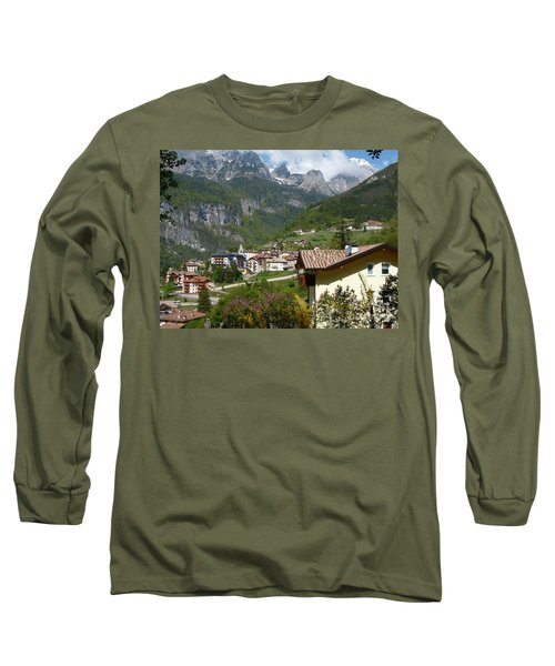 Long Sleeve T-Shirt featuring the photograph Springtime In Molveno - Italy by Phil Banks