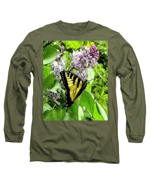 Springtime Moments- The Butterfly And The Lilac  Long Sleeve T-Shirt