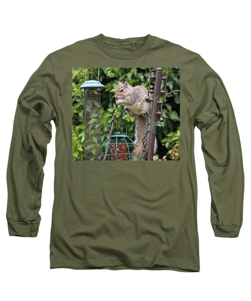 Squirrel Eating Nuts Long Sleeve T-Shirt