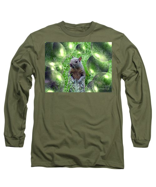 Squirrel In Bubbles Long Sleeve T-Shirt