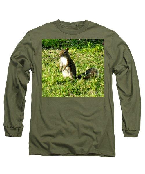 Long Sleeve T-Shirt featuring the photograph Squirrel by Oksana Semenchenko