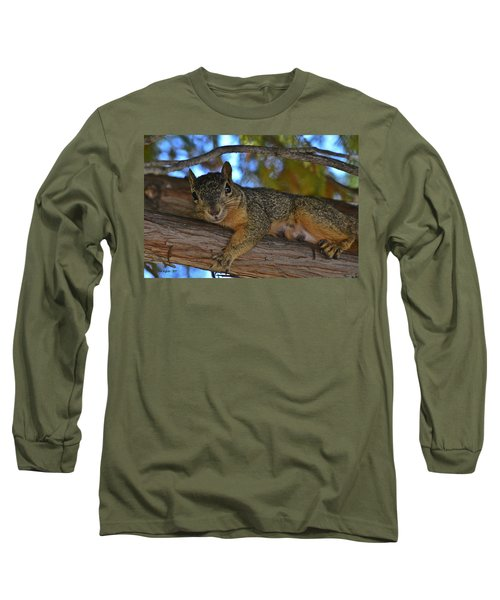 Squirrel On Watch Long Sleeve T-Shirt