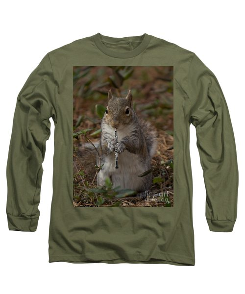 Squirrel With His Obo Long Sleeve T-Shirt