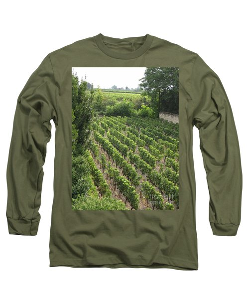 Long Sleeve T-Shirt featuring the photograph St. Emilion Vineyard by HEVi FineArt