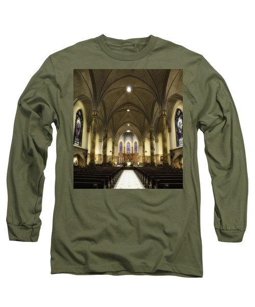 Long Sleeve T-Shirt featuring the photograph St Mary's Catholic Church by Lynn Geoffroy