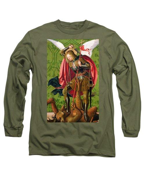 St. Michael Killing The Dragon  Long Sleeve T-Shirt