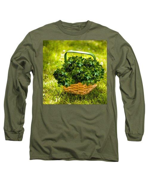 St Patricks Day Long Sleeve T-Shirt by Bob and Nadine Johnston