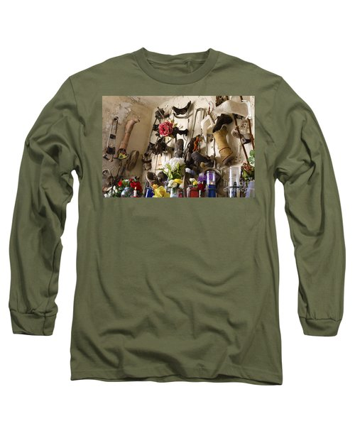 New Orleans St Roch Cemetery Long Sleeve T-Shirt by Luana K Perez