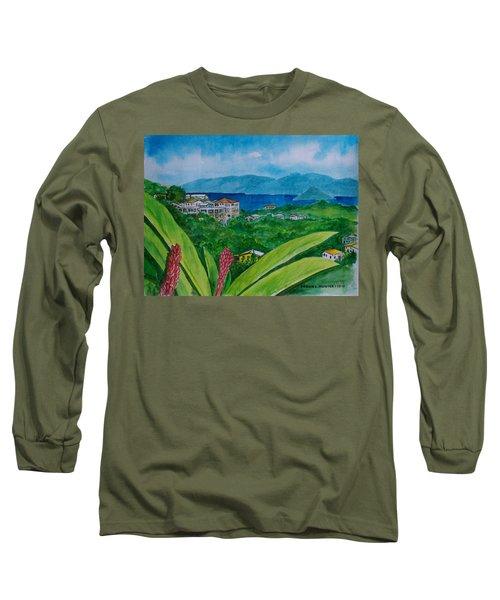 St. Thomas Virgin Islands Long Sleeve T-Shirt by Frank Hunter