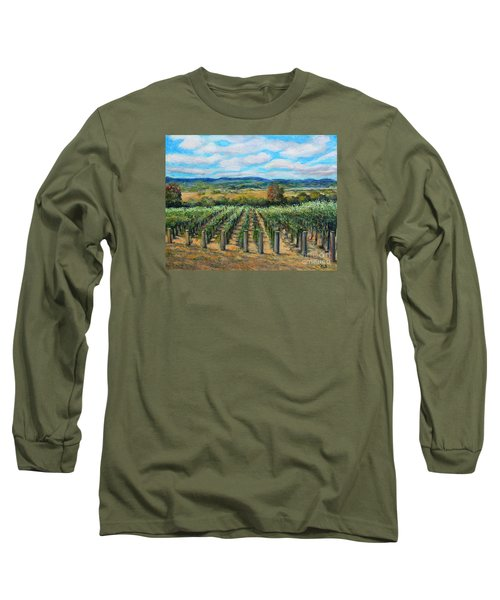 Stags' Leap Vineyard Long Sleeve T-Shirt by Rita Brown