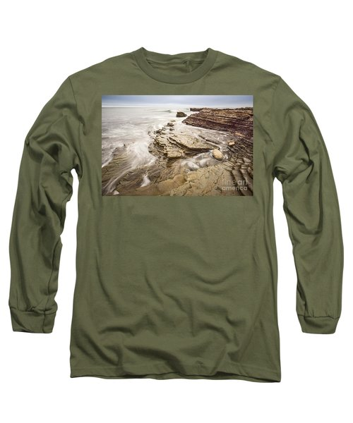 Stairs Of Time - The Jagged Rocks Montana De Oro State Park Long Sleeve T-Shirt