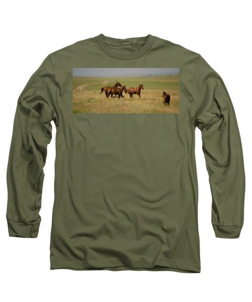 Long Sleeve T-Shirt featuring the photograph Stances by Rima Biswas