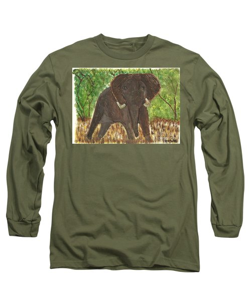 Long Sleeve T-Shirt featuring the painting Standing My Ground by Tracey Williams