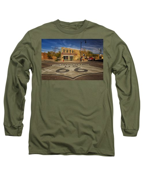 Standing On The Corner In Winslow Arizona Dsc08854 Long Sleeve T-Shirt by Greg Kluempers