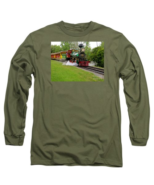 Steam Train Long Sleeve T-Shirt by Joy Hardee