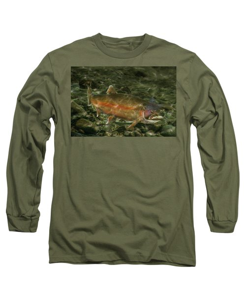 Steelhead Trout Spawning Long Sleeve T-Shirt