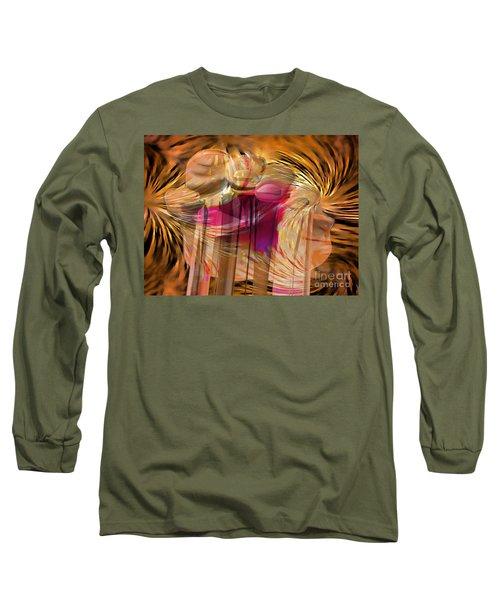 Long Sleeve T-Shirt featuring the digital art Sticky Hand by Luc Van de Steeg