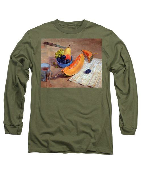 Still Life With Pumpkin Long Sleeve T-Shirt