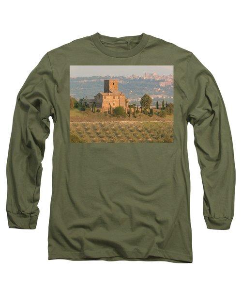 Long Sleeve T-Shirt featuring the photograph Stone Farmhouse by Marcia Socolik